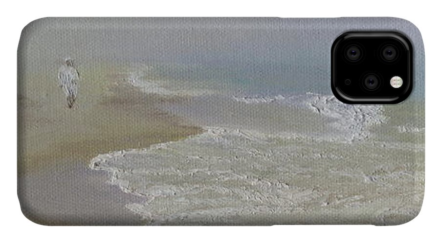 Seascape IPhone Case featuring the painting Out Of The Mist by Lea Novak