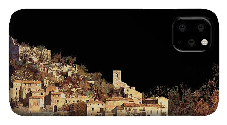 Landscape IPhone Case featuring the painting Paesaggio Scuro by Guido Borelli