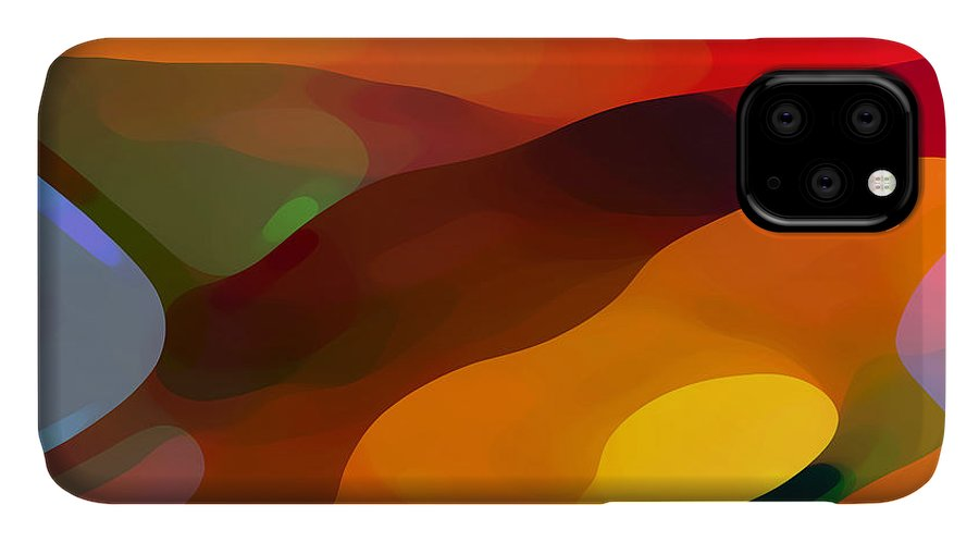 Abstract IPhone Case featuring the painting Paradise Found by Amy Vangsgard