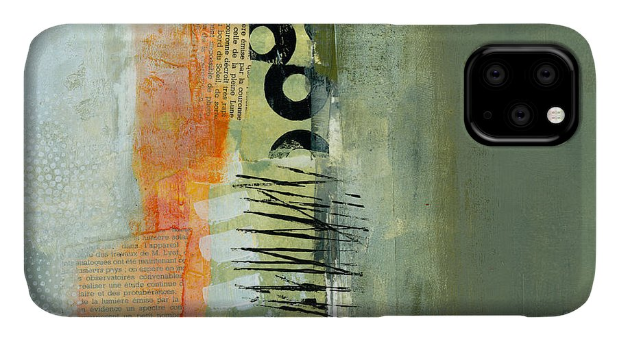 Acrylic IPhone Case featuring the painting Pattern Study Nuetral 1 by Jane Davies
