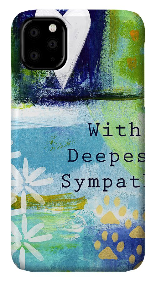 Pet Sympathy Card IPhone Case featuring the painting Paw Prints And Heart Sympathy Card by Linda Woods