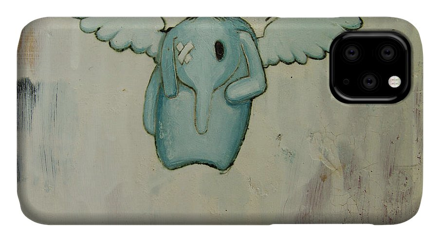 IPhone Case featuring the painting Pete's Angel by Konrad Geel