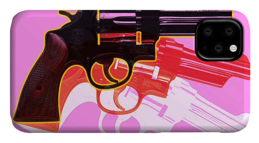 Digital IPhone Case featuring the digital art POP Handgun by Gary Grayson