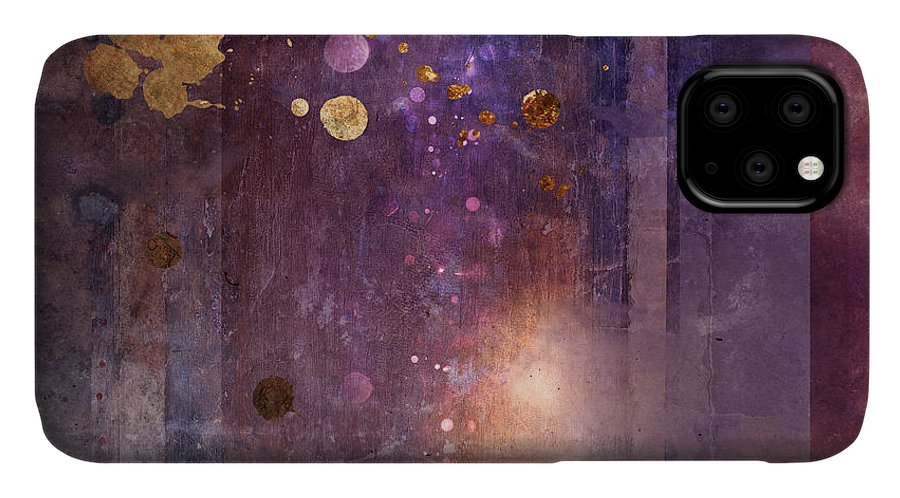 Abstract IPhone 11 Case featuring the digital art Portal Variant 1 by MGL Meiklejohn Graphics Licensing
