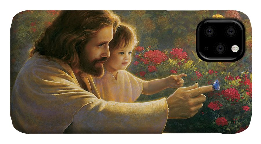 Jesus IPhone Case featuring the painting Precious In His Sight by Greg Olsen