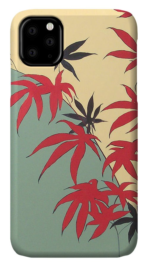 Bamboo IPhone Case featuring the painting Psycho Wabbits by Philip Fleischer