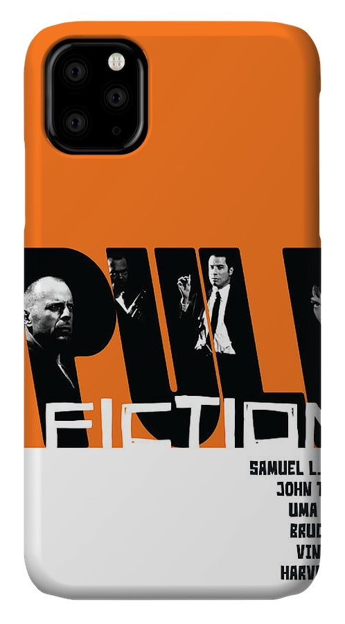 Movie IPhone Case featuring the digital art Pulp Fiction Poster by Geraldinez