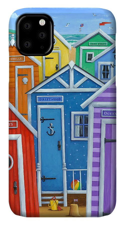Peter Adderley IPhone Case featuring the photograph Rainbow Beach Huts by MGL Meiklejohn Graphics Licensing