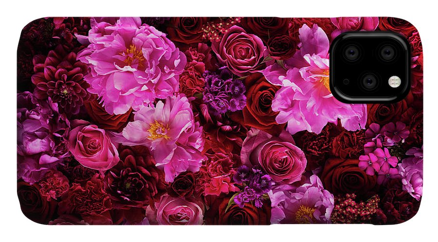 Tranquility IPhone Case featuring the photograph Red And Pink Cut Flowers, Close Up by Jonathan Knowles
