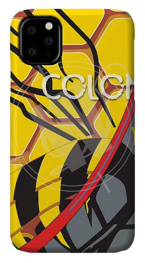 Honeybees IPhone Case featuring the drawing Redline by Hal Weyant