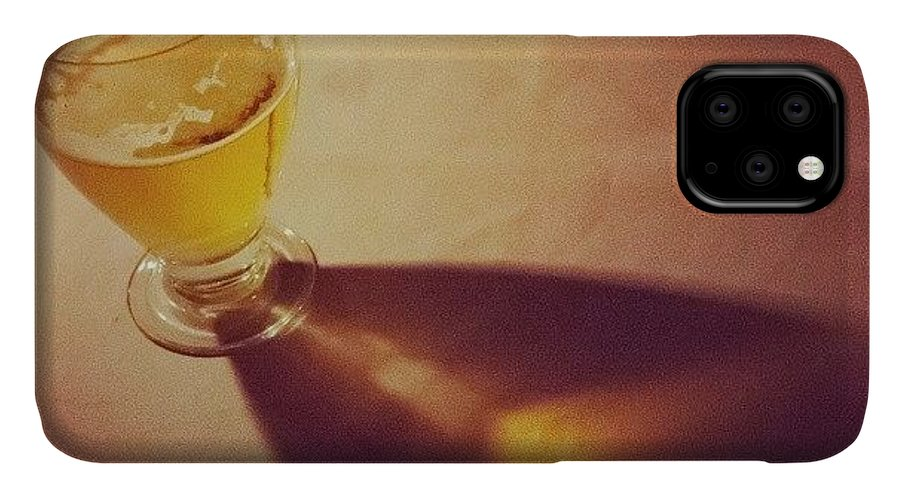 Glass IPhone 11 Case featuring the photograph Refraction by Hitendra SINKAR