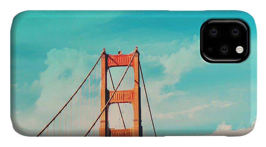 San Francisco IPhone Case featuring the photograph Retro Golden Gate - San Francisco by Melanie Alexandra Price