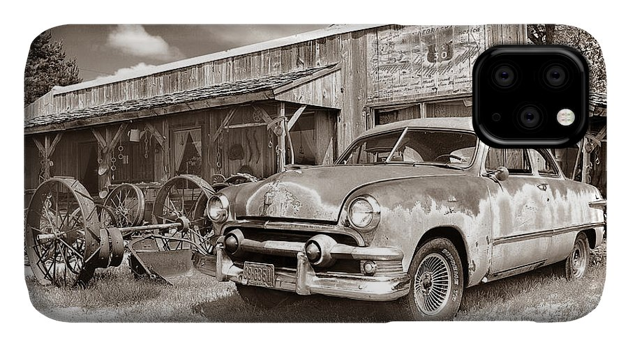 Antiques IPhone 11 Case featuring the photograph Roadside Antiques by John Anderson