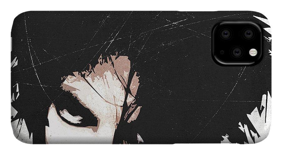 Robert IPhone 11 Case featuring the digital art Robert Smith by Filippo B