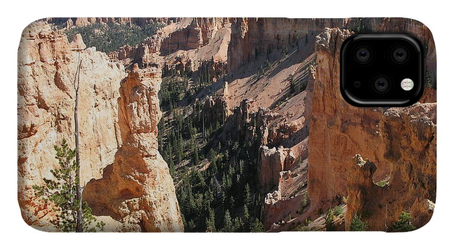 Canyon IPhone Case featuring the photograph Rockformation At Bryce Canyon by Christiane Schulze Art And Photography
