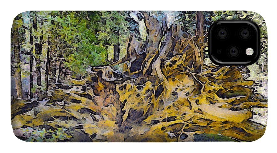 Barbara Snyder IPhone Case featuring the photograph Roots Abstract by Barbara Snyder