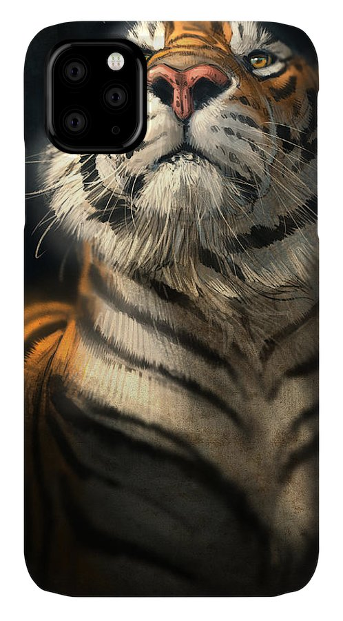 Tiger IPhone Case featuring the digital art Royalty by Aaron Blaise