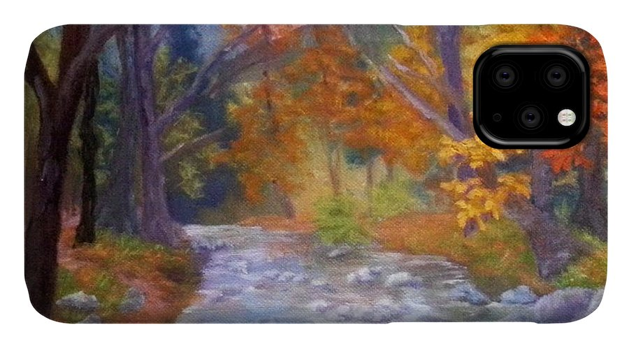 Saco IPhone Case featuring the painting Saco Creek by Sharon E Allen