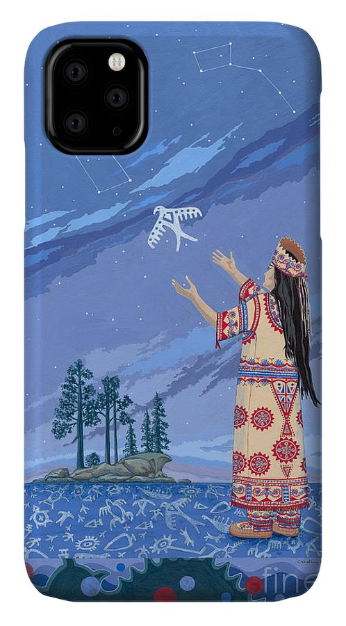 America IPhone Case featuring the painting Safe Passage by Chholing Taha