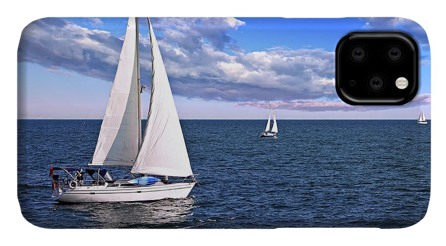 Boat IPhone 11 Case featuring the photograph Sailboats At Sea by Elena Elisseeva