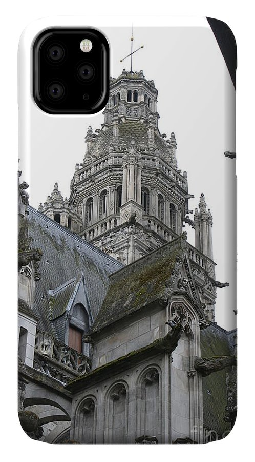Cathedral IPhone Case featuring the photograph Saint Gatien's Cathedral Steeple by Christiane Schulze Art And Photography
