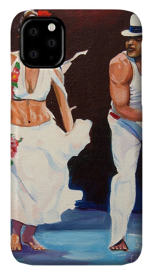 Dancing IPhone Case featuring the painting Salsa by Jose Manuel Abraham
