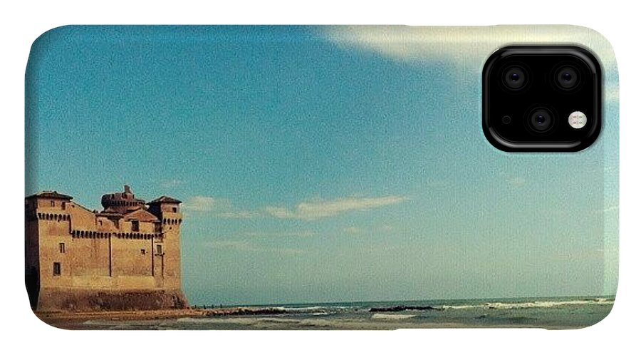 Love IPhone 11 Case featuring the photograph Santa Severa's Castle by Emanuela Carratoni