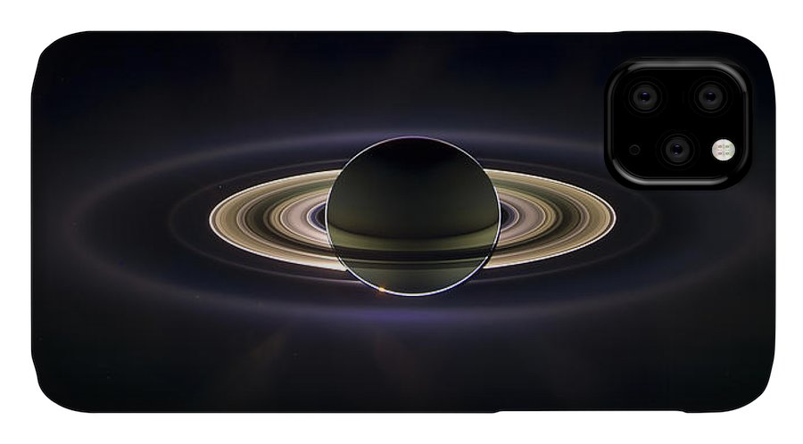 3scape IPhone Case featuring the photograph Saturn by Adam Romanowicz