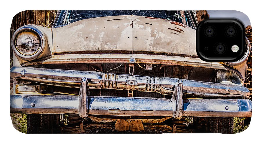 1953 Ford Antique Automobile IPhone 11 Case featuring the photograph Seen Better Days by Onyonet Photo Studios