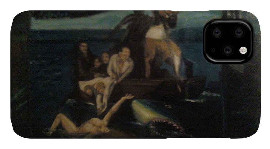 IPhone Case featuring the painting Shipwrecked Psyche Unfinished by Jude Darrien
