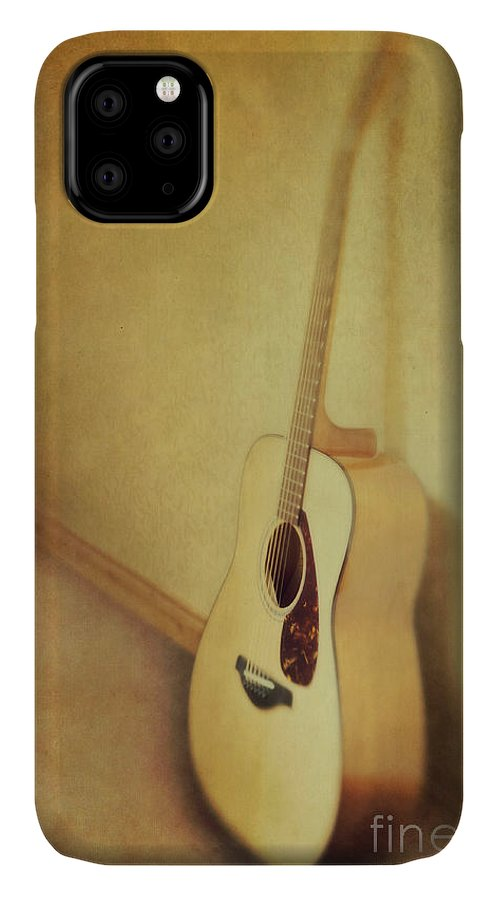 Acustic IPhone Case featuring the photograph Silent Guitar by Priska Wettstein