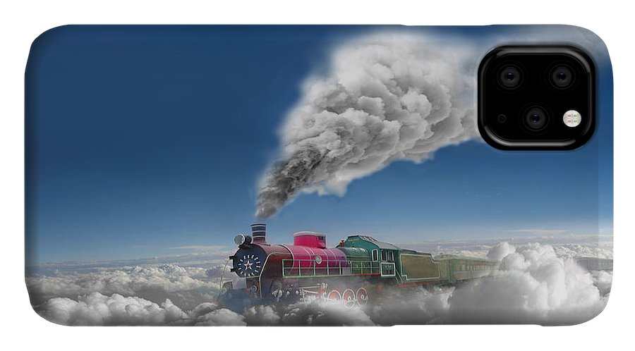 Clouds IPhone Case featuring the photograph Sky Express by Igor Zenin