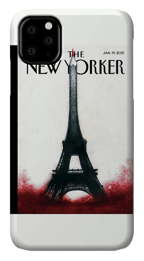 Charlie Hebdo IPhone Case featuring the painting Solidarite by Ana Juan