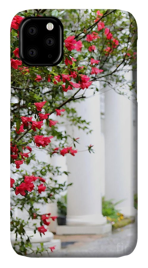 Southern Home IPhone 11 Case featuring the photograph Southern Home - Digital Painting by Carol Groenen