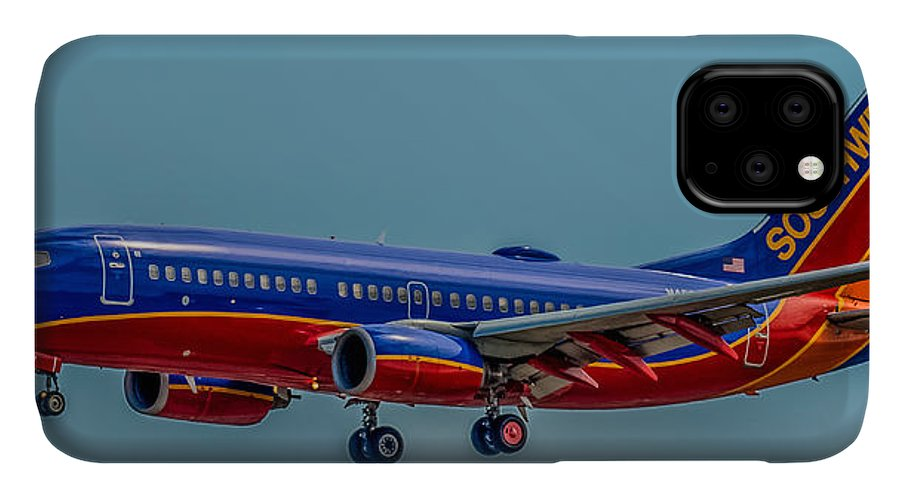 Plane IPhone Case featuring the photograph Southwest 737 Landing by Paul Freidlund