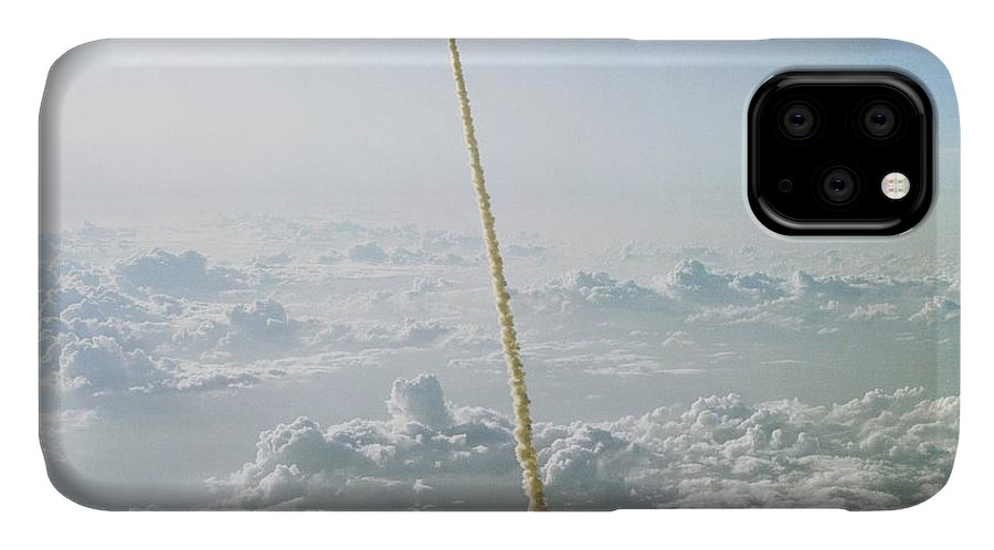 Challenger IPhone Case featuring the photograph Space Shuttle Challenger Launch by Nasa/science Photo Library