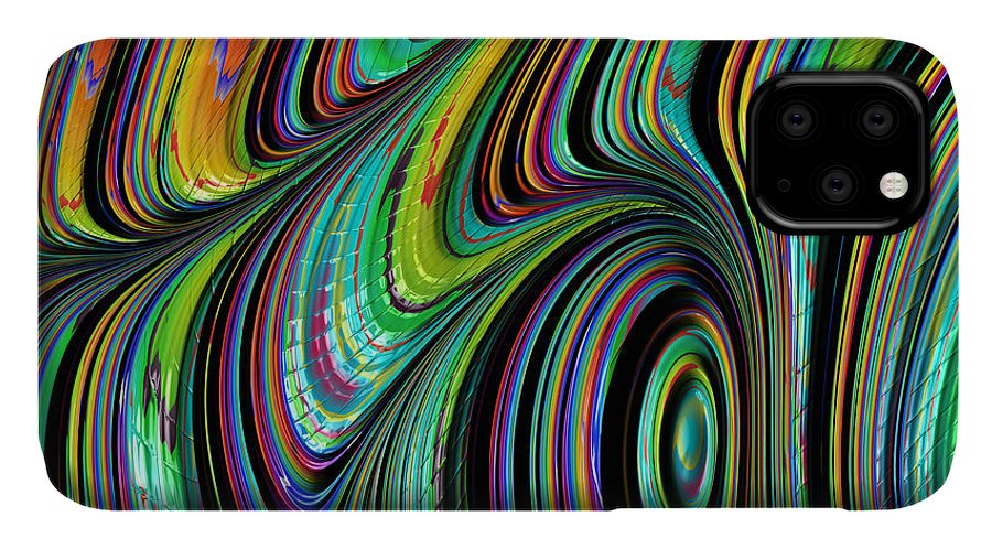 #art #print #fractal #spectrum #happijar IPhone 11 Case featuring the digital art Spectrum by Vix Edwards