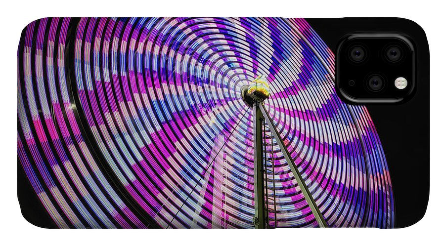 Action IPhone Case featuring the photograph Spinning Disk by Joan Carroll