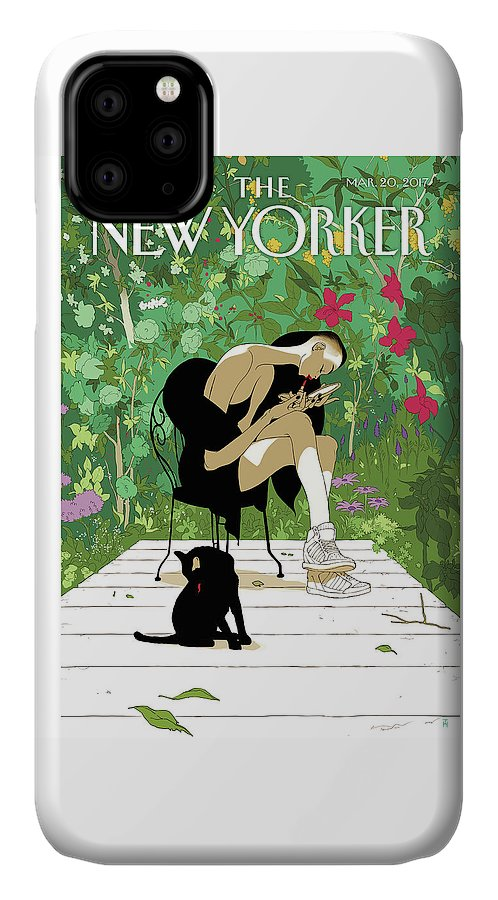 Spring Awakening IPhone Case featuring the painting Spring Awakening by Tomer Hanuka