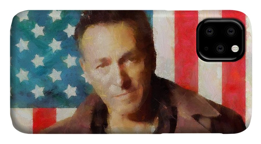 Springsteen American Icon IPhone Case featuring the digital art Springsteen American Icon by Dan Sproul