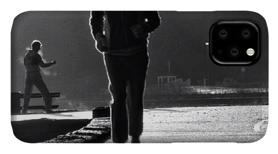 Bw IPhone Case featuring the photograph #stanelypark #seawall #bw by Tonino Guzzo