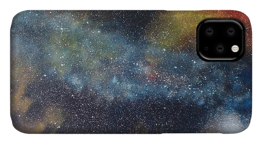 Oil Painting On Canvas IPhone Case featuring the painting Stargasm by Sean Connolly