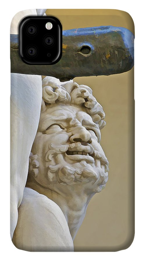 Agony IPhone 11 Case featuring the photograph Statues Of Hercules And Cacus by David Letts