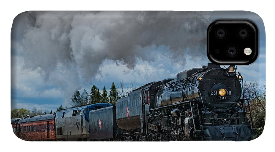Steam IPhone Case featuring the photograph Steam Engine 261 by Paul Freidlund