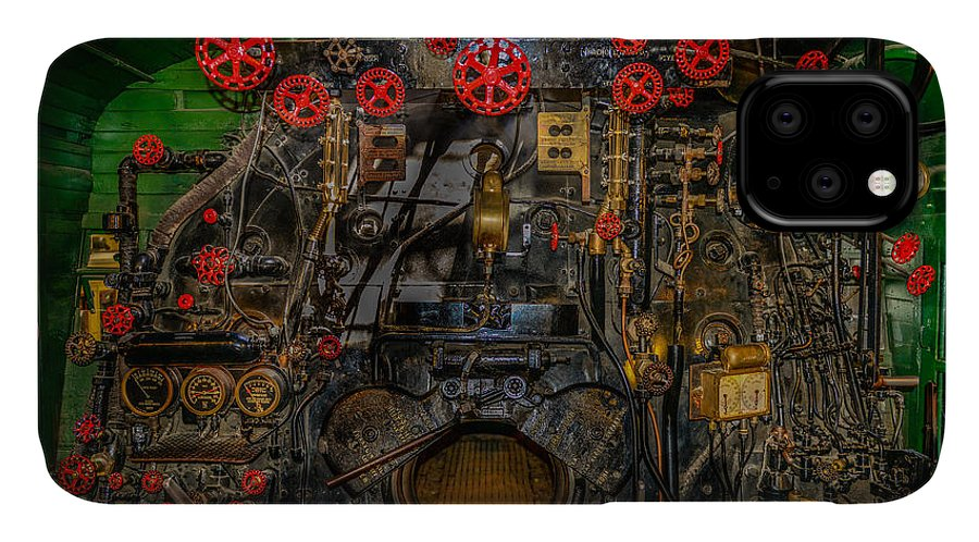 Steam Engine IPhone Case featuring the photograph Steam Locamotive Controls by Paul Freidlund