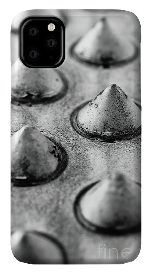 Aluminum IPhone Case featuring the photograph Steel Kisses by Charles Dobbs