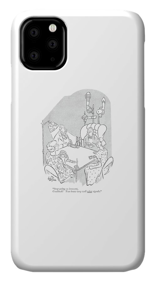 116583 Gpr George Price IPhone Case featuring the drawing Stop Acting So Innocent by George Price