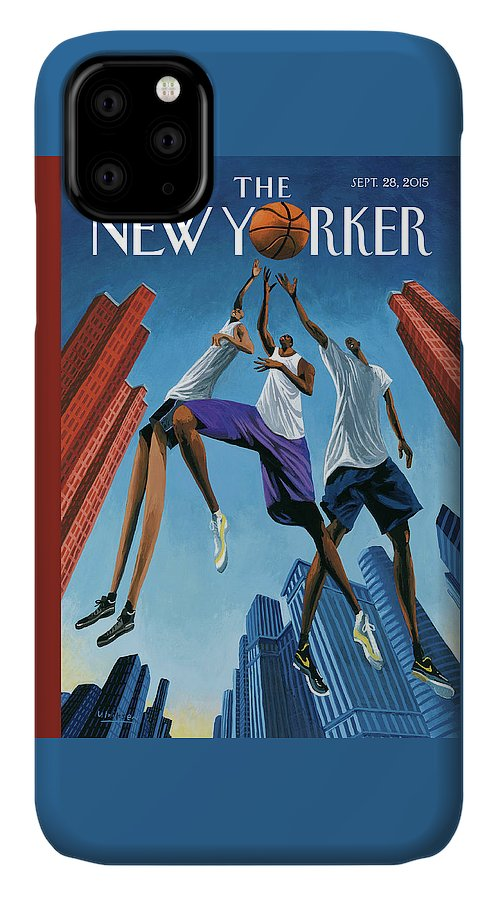 Basketball IPhone Case featuring the painting Streetball by Mark Ulriksen