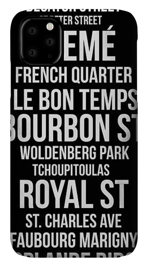 New Orleans IPhone Case featuring the digital art Streets Of New Orleans 2 by Naxart Studio