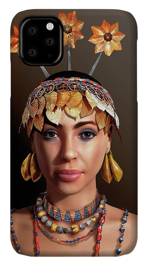 Head-dress IPhone Case featuring the photograph Sumerian Royal Woman by Jose Antonio Penas/science Photo Library